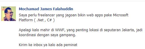 James - Awan Rimbawan - Freelance
