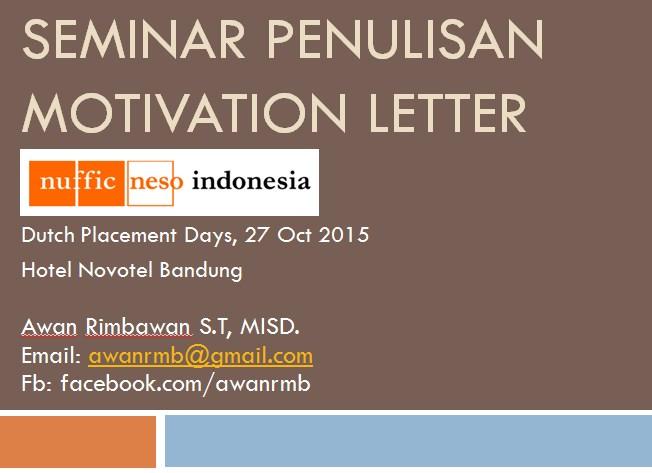 Menulis Motivation Letter dengan Baik dan benar